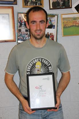 Senior men's winner Martin Mooney