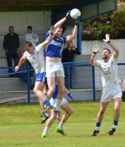 Midfield powerhouse Michael Sweeney will be a pivotal for Fanad Gaels this weekend even though he wears pink boots!!