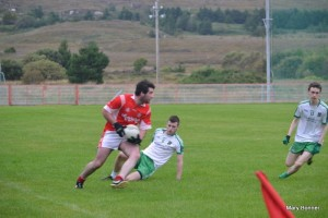 The Green Machine: Conor Greene helped Dungloe to a crucial victory over Termon in the Donegal SFC.