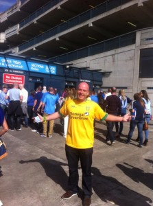 Charles outside Croke Park before the All-Ireland semi-final victory with Dublin.