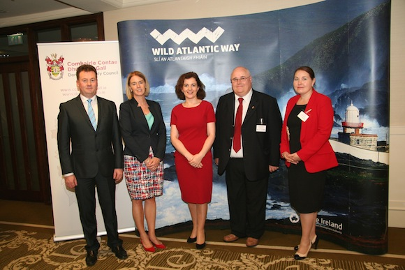 At Thursdays Connecting the Wild Atlantic Way Tourism Conference was Seamus Neely, Donegal County Council, Fiona Monaghan, Failte Ireland, Barney McLaughlin, Donegal County Council and Joy Harron, Donegal Tourism.