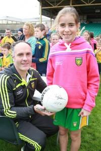 Damien Diver with  Kattie McEniff from Bundoran at the fans day in Ballybofey.