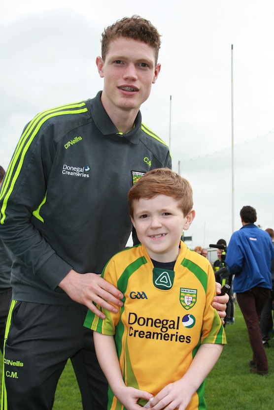 Darra Patton with Kealan Morrison from the minor team pictured at the signing in Ballybofey