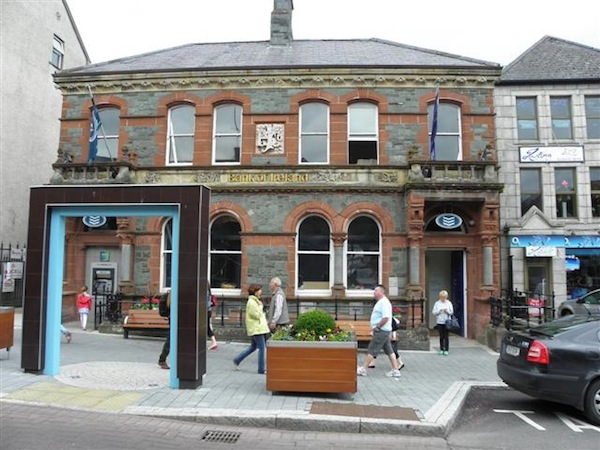 The well-known Bank of Ireland building in Letterkenny