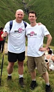 Michael with Celtic soccer legend and cancer battler John Hartson.