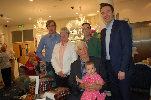 Malachy with his wife Goretti, Sons Dermot, Barry, Briam and grandaughter Ella