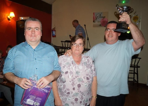 The McElhinney brothers Patrick and Michael pictured with their mother Eileen after they had been declared winners of the competition.