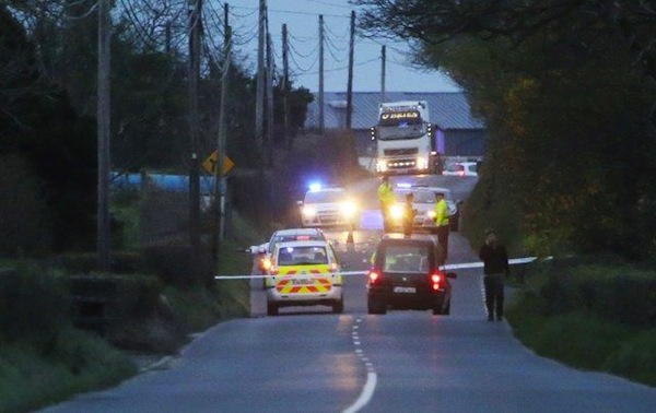 One man has died following a road crash outside Raphoe this afternoon. Pic by Northwest News Pix.