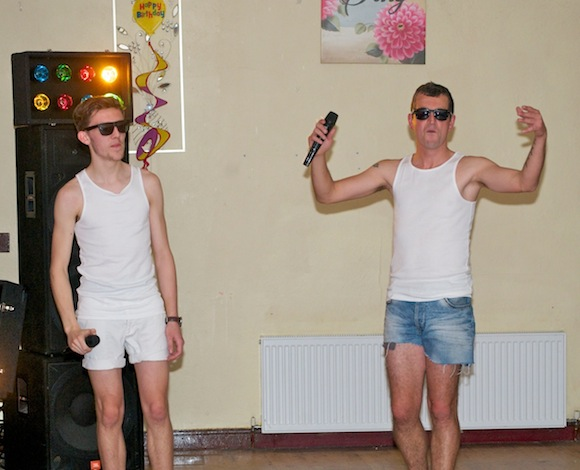 """Manager Stephen Conaghan and Oliver Quinn got the night under way with a fabulous rendition of """"I'm Too Sexy"""" by Right Said Fred."""