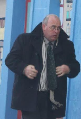 Austin Stewart from Fahan arrives in court in Carndonagh today