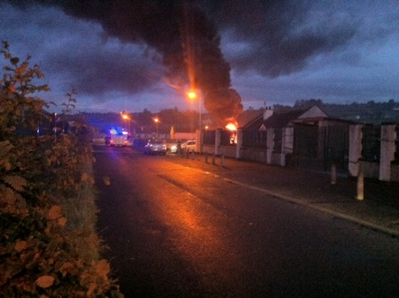 The fire at Neil T Blaney road this evening.