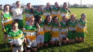 The Buncrana U13 girls who beat N Muire in the county B Final on Saturday