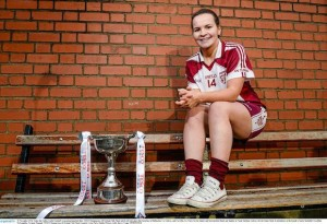 Geraldine and the winning trophy