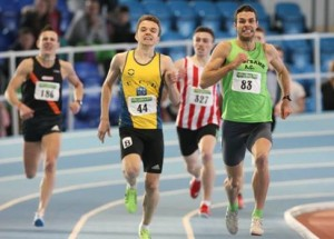 Karl Griffin pictured here in the yellow jersey, was crowned as the Irish Junior Athlete of the year.