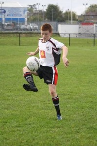 Conor O'Donnell in action for Letterkenny Rovers U16 team.