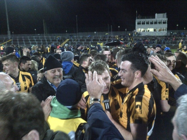 Scenes of jubilation for St Eunan's after they won the Donegal SFC title after defeating local rivals Glenswilly.