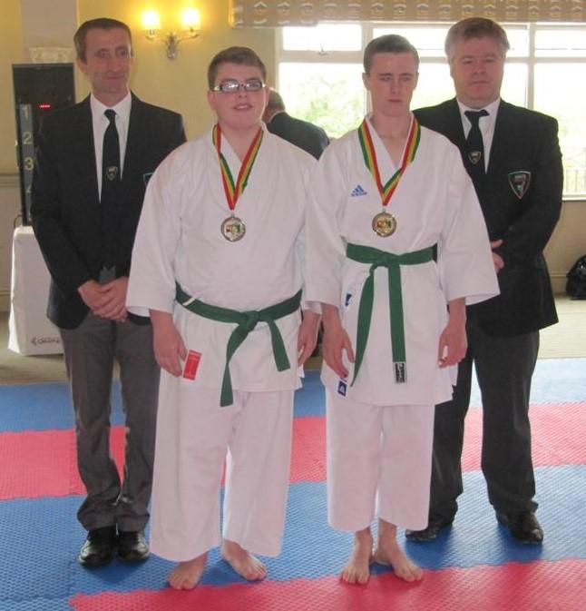 James Burke achieved silver in kata