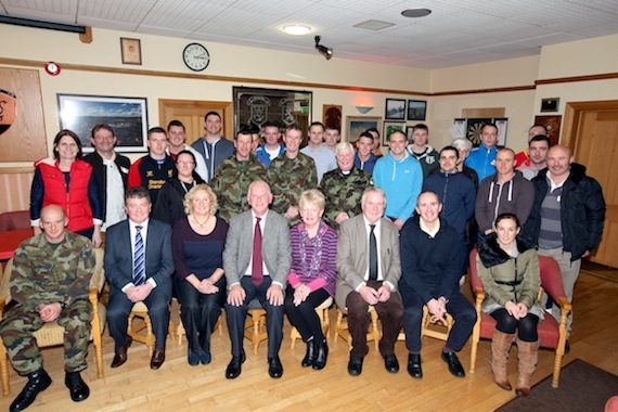 ASIST facilitators, HSE representatives, Army Officers and ASIST participants with the main man Tommy.