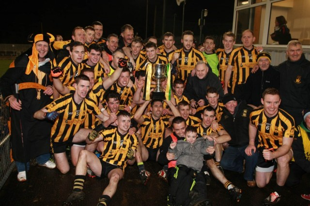St Eunan's celebrate winning the Donegal SFC title. Pic by Brian McDaid.