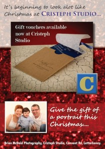 Gift vouchers for family portraits at Cristeph Gallery are a great idea for christmas
