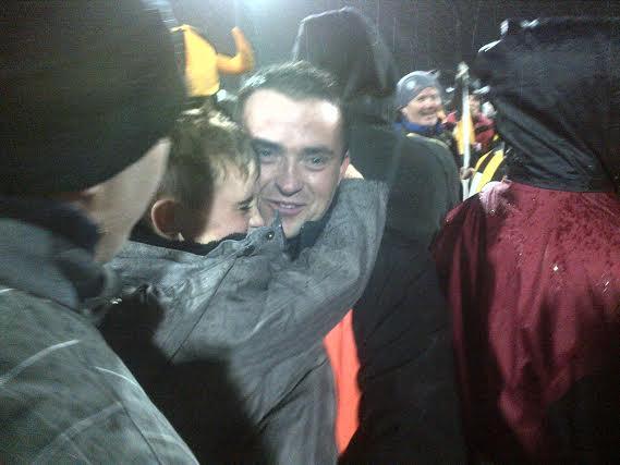 Maxi Curran celebrates with his family