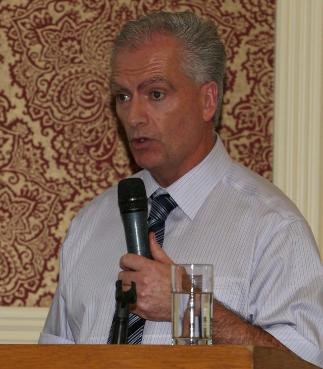 Con Mc Laughlin of Donegal County Council outlined current projects which the Council are undertaking in the area of Landfill Restoration using Bioremediation at the Open Evening held by Engineers Ireland in the Radisson Hotel, Letterkenny on Thursday.