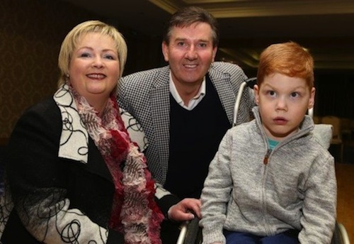 Paul pictured with Daniel and mum Ann-Marie before last night's fundraising concert.