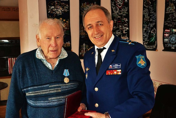 Hugh McCrea of Ramelton finally gets his medal.
