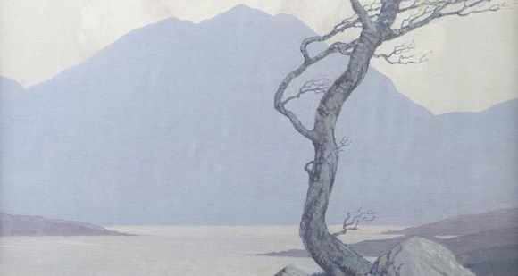 The painting by Paul Henry which fetched the top price at auction.