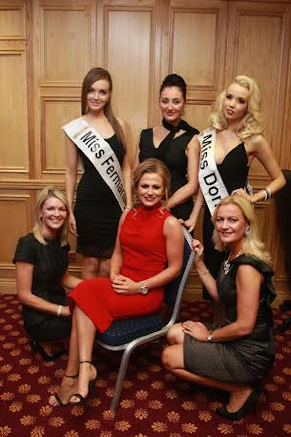 Amanda Woods from Miss Brown's Boys with Mary Mc Cartney former Miss North Ireland, Rosin Mc Devitt from Fermanagh, Rosin Ball former Miss Donegal, Judeth Grey Miss Northern Ireland, and Emma Kane, Miss Donegal Danny O Carroll's Charity Christmas Party in Lettterkenny Co. Donegal. Photo Brian McDaid