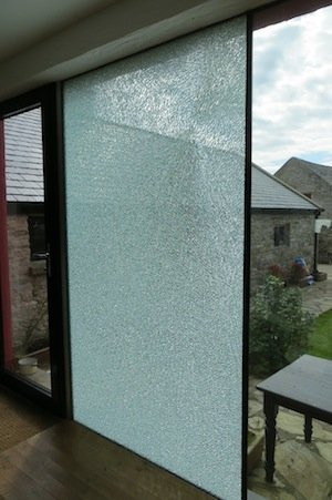 The shattered glass at Ms Barnett's Dunfanaghy home.
