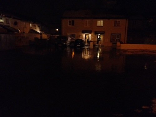 Water is threatening to flood home in Glenwood Park, Letterkenny.