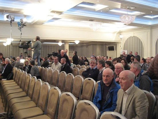 The audience prepare to take their seats for last night's People's Debate with Vincent Browne.