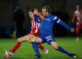 Raymond Foy in action for Ballinamallard may make a move back to Finn Park.