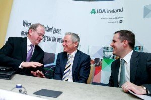Frank Ryan, Chairman - IDA Ireland, Minister Richard Bruton, Martin Shanahan, CEO - IDA Ireland
