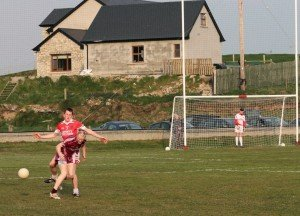 Stephen Doak in action for his club St Michael's. Doak is at the centre of an ineligibility row between Sligo IT and Queen's.