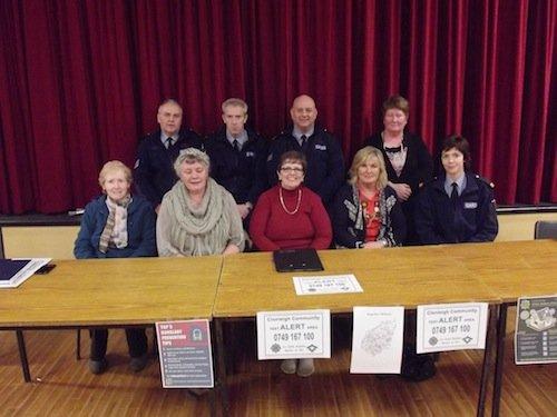 The Clonleigh Community Text Alert Scheme with members of An Garda Siochana.