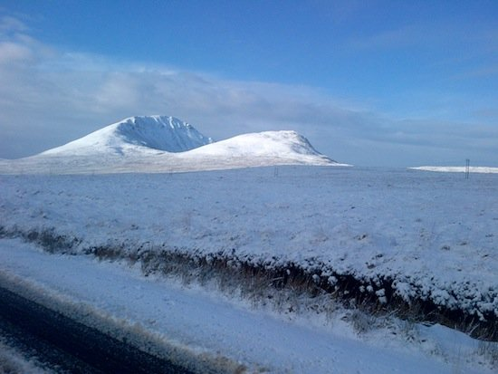 Errigal in all its splendor this morning. PIc Donegal Daily.