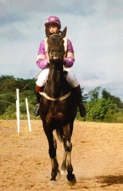 Marina in her days as a jockey.