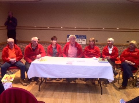 The North West 10K committee make the announcements of their charities.