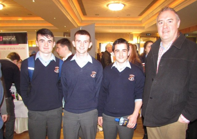 Carndonagh Community College students with their Guidance Counsellor Mr Liam Harkin