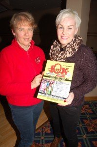 Ann Condon with Lorraine Thompson at the North West 10K launch.