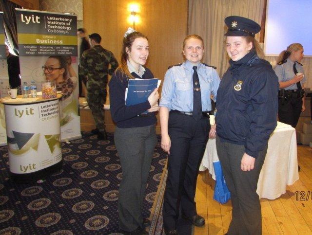 Deele College students with a member on An Garda Siochana.