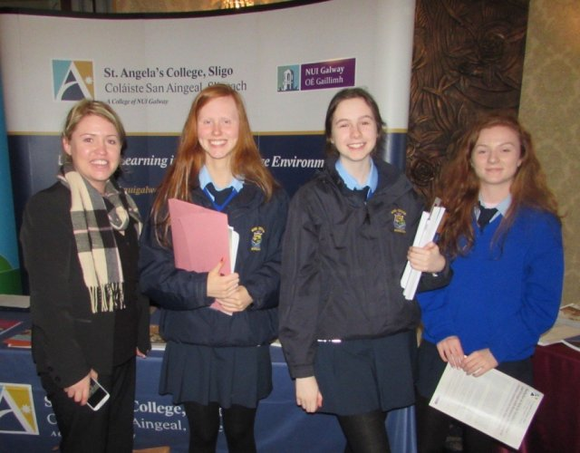 Scoil Mhuire, Buncrana students with their Guidance Counsellor Ms Orla Mc Cafferty.