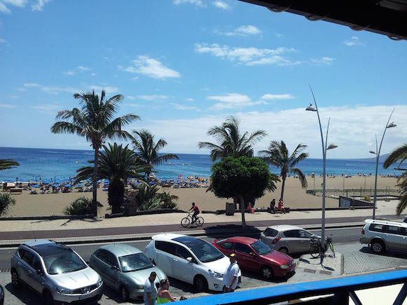The view from the new sports bar owned by Rory Gallagher in Lanzarote