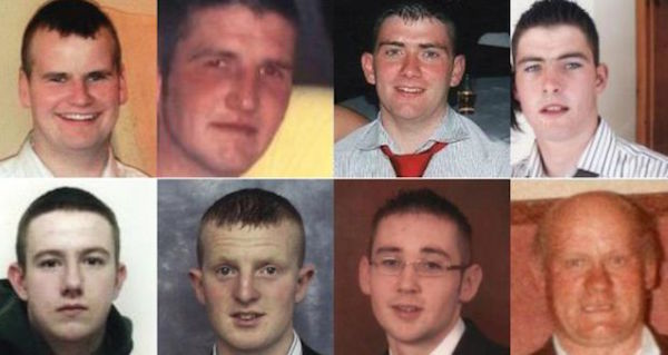 The eight men killed in the crash.