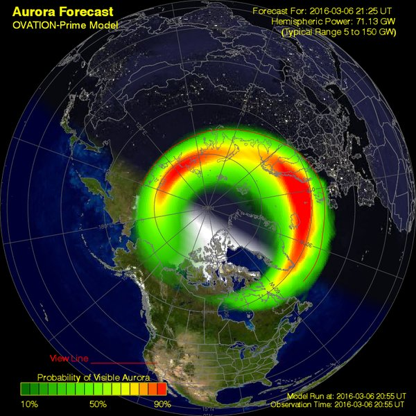This image shows the huge swathe across the Northern Hemisphere
