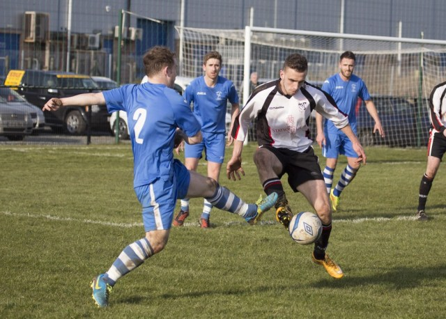 Paul McVeigh in action for Letterkenny Rovers against Killester. Pic by North-West Newspix.
