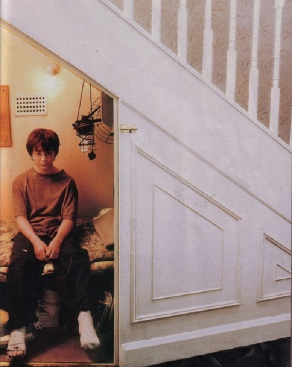 Harry lived in the cupboard under the stairs at Privet Drive