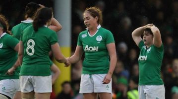 Paula Fitzpatrick and Nora Stapleton after the final whistle